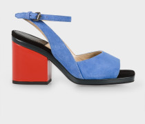 Blue Suede 'Ellery' Heeled Sandals
