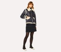 Blackwatch Tartan Wool-Blend A-Line Skirt