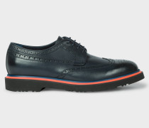 Dark Navy Leather 'Crispin' Brogues