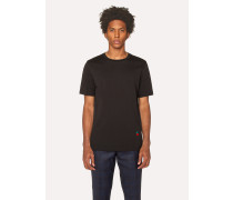 Black T-Shirt With Cherry Motif
