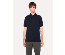 Slim-Fit Dark Navy Cotton-Piqué Polo Shirt With Charm Buttons