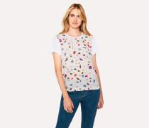 White 'Terrazzo' Print T-Shirt