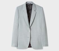 Light Grey Marl Two-Button Wool Blazer