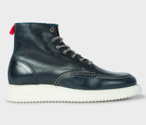 Navy 'Caplan' Leather Boots