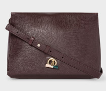 Burgundy T-Bar Leather Shoulder Bag