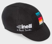 + Cinelli Black 'Artist Stripe' Detail Cycling Cap
