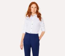 Slim-Fit White Cotton Shirt With 'Swirl' Cuff Lining