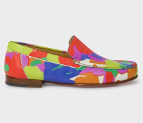 Multi-Coloured Camouflage 'Danny' Leather Loafers