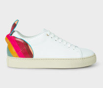 White Leather 'Basso' Trainers With 'Swirl' Rabbit Detail