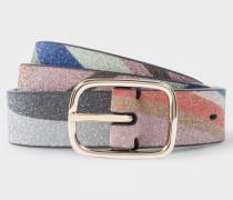 'Glitter Swirl' Print Belt