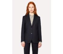 A Suit To Travel In -  Dark Navy Two-Button Wool Blazer