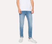 Slim-Fit 12oz 'Authentic Comfort Stretch' Light-Wash Jeans