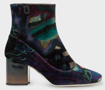 'Dreamer' Print Velvet 'Nira' Boots