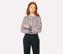 Slim-Fit Liberty Print Shirt With Contrast Cuffs And Collar