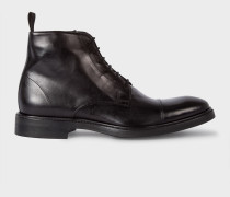Dip-Dyed Black Calf Leather 'Jarman' Boots