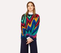 Mohair-Blend 'Dreamer Stripe' Crew Neck Sweater