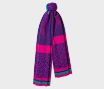 Violet And Pink 'Dino' Wool Scarf