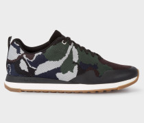 Camouflage 'Rappid' Knitted Trainers