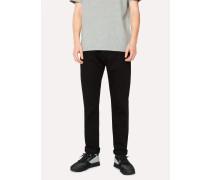 Tapered-Fit 12oz 'Super Black' Stretch-Denim Jeans