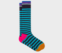Turquoise Stripe 'A Sock To Travel In'