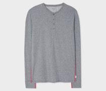 Grey Jersey Henley Top