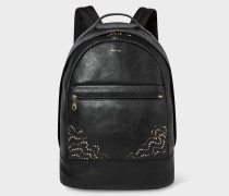 Black Leather Backpack With 'Dreamer' Stud Detail