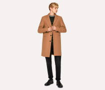 Camel Wool-Cashmere Overcoat