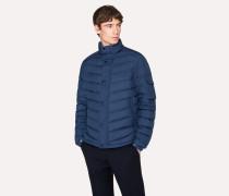 Blue Chevron Down-Filled Jacket