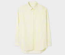 Fluorescent Green Striped Cotton Shirt