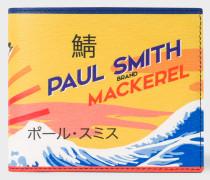 'Mackerel' Print Leather Billfold Wallet