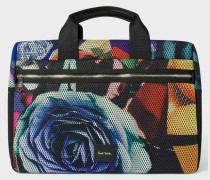 'Rose Collage' Print Mesh Weekend Bag