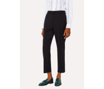 A Suit To Travel In -  Black Slim-Fit Wool Trousers