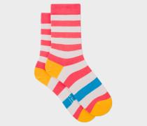 Light Pink Stripe Socks