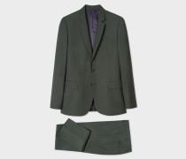 Mid-Fit Dark Green Wool-Mohair Suit