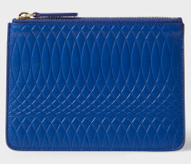 No.9 - Blue Leather Zip Pouch