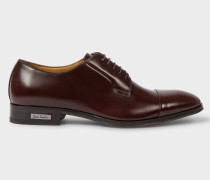 Burgundy Leather 'Spencer' Derby Shoes
