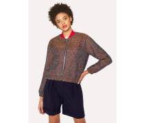Multi-Coloured Tweed Cotton-Blend Bomber Jacket