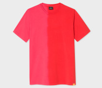 Coral And Red Tie-Dye Effect T-Shirt