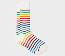White 'Rainbow Stripe' Socks