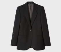 A Suit To Travel In -  Black Two-Button Wool Blazer