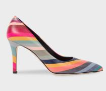 'Swirl' Leather 'Blanche' Heels