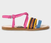 Pink Vachetta Leather 'Eunice' Sandals