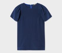 Navy Silk T-Shirt