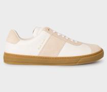 White And Ecru Leather 'Levon' Trainers