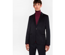Tailored-Fit Dark Navy Unlined Cashmere Blazer