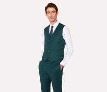 Tailored-Fit Dark Green Wool-Cashmere Waistcoat