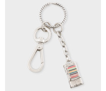 Silver Stripe 'Mini' Car Keyring