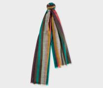 'Artist Stripe' Herringbone Lambswool Scarf