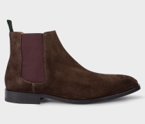 Dark Brown Suede 'Gerald' Chelsea Boots