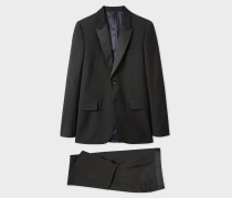 The Soho - Tailored-Fit Black Peak-Lapel Evening Suit